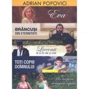 Colectia Adrian Popovici - Eva/Brancusi in eternitate/Liceenii in 53 de ore si ceva/Toti copii Domnului/Un acoperis deasupra capului (5DVD)