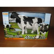 Battery Operated Walking Milk Cow Toy Gift For Kids