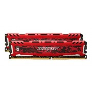 Ballistix Sport LT 32GB Kit (16GBx2) DDR4 2400 MT/s (PC4-19200) DIMM 288-Pin Memory - BLS2C16G4D240FSE (Red)