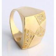 Anel de Ouro Amarelo com 12 Diamante de 1 Ponto