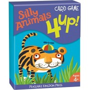 Peaceable Kingdom 4 Up! Silly Animals Card Game