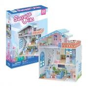 3D Puzzle Dollhouse Seaside Villa CubicFun P683h 112 Pieces