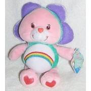 2005 Care Bears Special Edition Natural Wonders 8 Plush Cheer Bear as Flower Bean Bag Doll