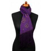 Paarse sjaal met peace tekens