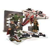 Avengers Assemble Papercraft Figure Figura Set Avenjet Aircraft Vehicle Pack Jazwares