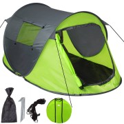 TecTake Pop up-tält grön/grå av TecTake