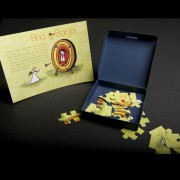 Invitación Boda Puzzle en caja Azul oscuro
