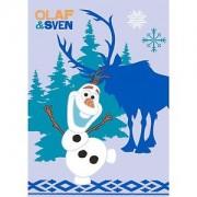 AW Covor pentru copii 95x133 cm cu imprimeu Frozen Olaf si Sven
