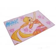 Tappeto camera WINX stella scendi letto antiscivolo cm 80X120 rosa bambina