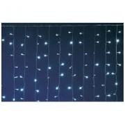 LED-es fényfüggöny, 2x3 m / 600 LED, sorolható, hidegfehér