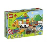 Game / Play LEGO DUPLO My First Zoo 6136. Toy Animals Blocks Keeper Plastic Vehicle Colorful Minifigure Toy / Child / Kid