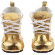 Magideal Gold Lace Up Pu Martin Boots Shoes For 18Inch American Girls Dolls