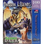 """Dragon Legends """"Release of the Dragon"""" Glows at Night 100 Piece Jigsaw Puzzle by Papercity Puzzles"""