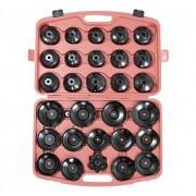 Set 30 chei filtru de ulei BestAutoVest cu dimensiuni intre 66-108mm compatibile la majoritatea autoturismelor