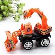 Excavator Toy (Pack of 2) Digger Toy /Backhoe/Trucks Toy/Pulling Cart toy / Digging machine/ Play Vehicles Toy /classroom education vehicle 3 Ages & up