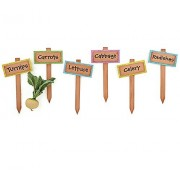 Garden Signs With Vegetable Names Set Of 6