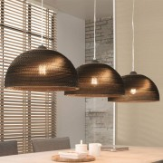 LUMZ Eetkamerlamp met 3 kappen van karton