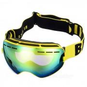 SEA AGRADABLE SNOW3100 anti-niebla de lente esferica Esqui gafas - Amarillo
