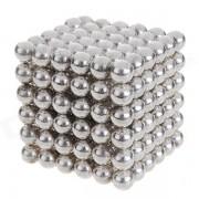 4.7~5mm Neodymium NIB Magnet Spheres with Steel Case - Silver (216-Piece Pack)