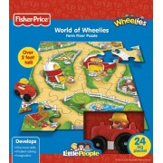 Fisher-Price Farm World of Wheelies Activity Floor Puzzle (Little People) 24-Piece