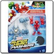 Mashers Hasbro Marvel Figuras 2 Paquete de Spiderman, 6 cm