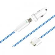 Dexim ciggladdare med USB-kabel till iPod/iPad/ iPhone 4/4S