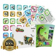 AR Animal Flash Cards - Interactive Educational Game. Early Introduction to Dinosaurs Land and Sea Animals Birds and I
