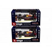 BBURAGO 1:43 RACE - RED BULL RACING TAG HEUER RB12 - MAX VERSTAPPEN #33 & DANIEL RICCIARDO #3 2PCS DIECAST TOY CAR 18-38025