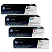 HP Complete 4 Color Toner Set for the M175nw M275 CP1025nw Printers