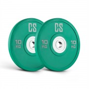 Capital Sport Performan Placi uretan Greutate 10 kg pereche Verde