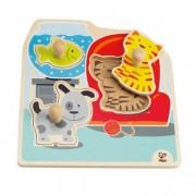 Jucarie eco din lemn Puzzle My Pets Hape