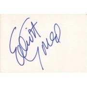 Elliott Gould Autographed Index Card