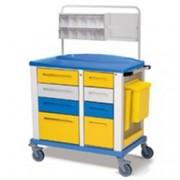 carrello medicazione medio - 8 cassetti - serratura - 102x64xh.100cm