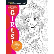 The Manga Artist's Coloring Book: Girls!: Fun Female Characters to Color, Paperback