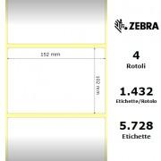 Etichette Zebra - Z-Ultimate 3000T White, formato 152 x 102
