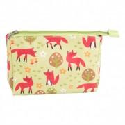 Spring Forest Fox Make Up Bag