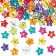 Star Diamante Beads For Childrens Jewelry Making, Bead Crafts, Collage (Pack Of 300)