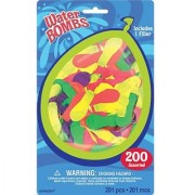Amscan Fun Filled Summer Balloon Water Bombs Party Activity (Pack Of 200) Multicolor