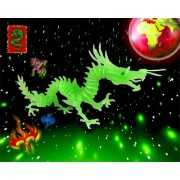 Puzzled Dinosaur 3D Jigsaw Glow In The Dark Construction Kit