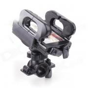 360 Rotating bicicletas soporte para telefono - Negro