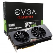 EVGA GeForce GTX 980 Ti 6GB CLASSIFIED GAMING ACX 2.0 Whisper Silent Cooling w Free Installed Backplate Graphics Card 06G-P4-4998-KR