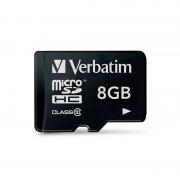 Card Verbatim microSDHC 8GB Clasa 10