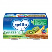 Mellin Omogeneizzati di frutta - Banana Kiwi - Confezione da 200 g ℮ (2 vasetti x 100 g)