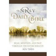 The NRSV Daily Bible: Read, Meditate, and Pray Through the Entire Bible in 365 Days (Brown Imitation Leather) by Harper Bibles