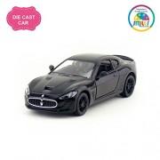 Smiles Creation Kinsmart 1:38 Scale Pull Back Action 2016 Maserati Gran Turismo MC Straddle Car Toys, Black (5-inch)