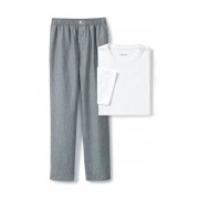 ランズエンド LANDS' END メンズ・ラウンジ・パンツ/リネンコットン/特別セット(バニララテストライプ)