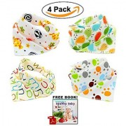 Bandana Baby Bibs Cute Unisex for Boys and Girls 100% Cotton Super-Stylish Anti-Smell Anti-Bacterial Apron Bibs Quick Dry Avoids Drool Rash with Nickel-Free Snaps Best for Sensitive Skin Buy Now