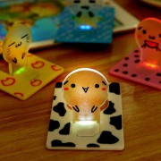 rosegal Mini LED Wallet Credit Card Light Portable Pocket Night Lamp Folding Bulb