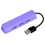 Hub USB Hama USB 2.0 4 porturi Purple