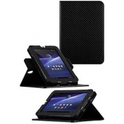 HHI Toshiba Thrive 7 360 Dual-View Multi Angle Folio Case Cover - Carbon Fiber (Package include a HandHelditems Sketch S